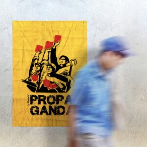 Propaganda Yellow Poster for Aside Bar